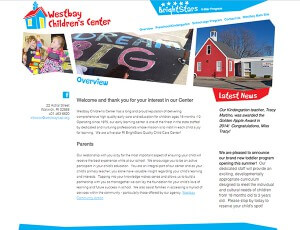 Screenshot of the Children's Center Website
